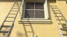 Ladder up to window
